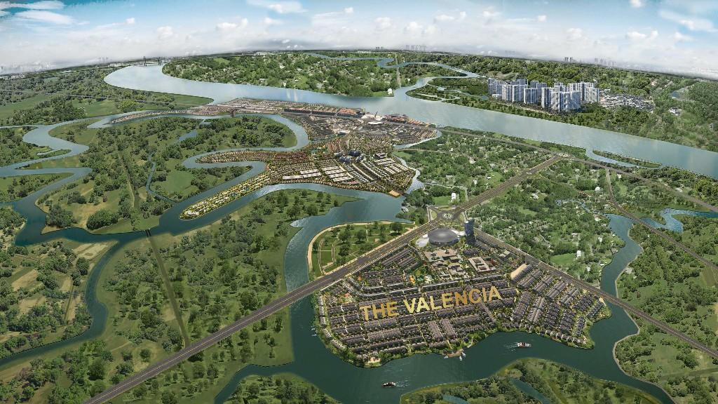 Vị trí Valencia trong tổng khu Aquac City